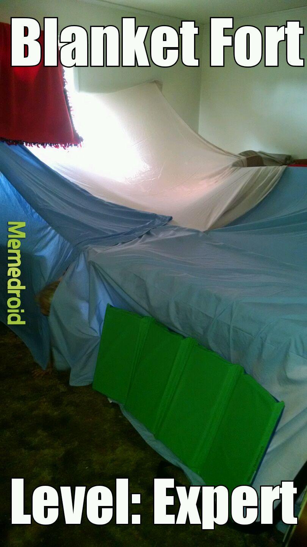 My child's fort we built XD - meme