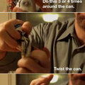 How to crush a beer can