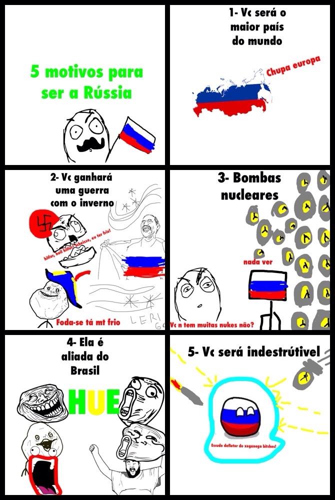 Rússia é foda... sugestões nos comentários! - meme