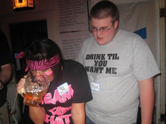 drink til you want me - meme