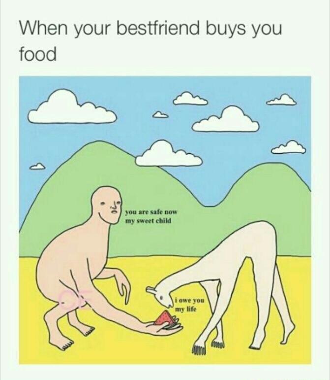 As long as the food is good - meme
