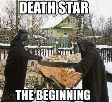 Traduction : étoile de la mort le commencement - meme