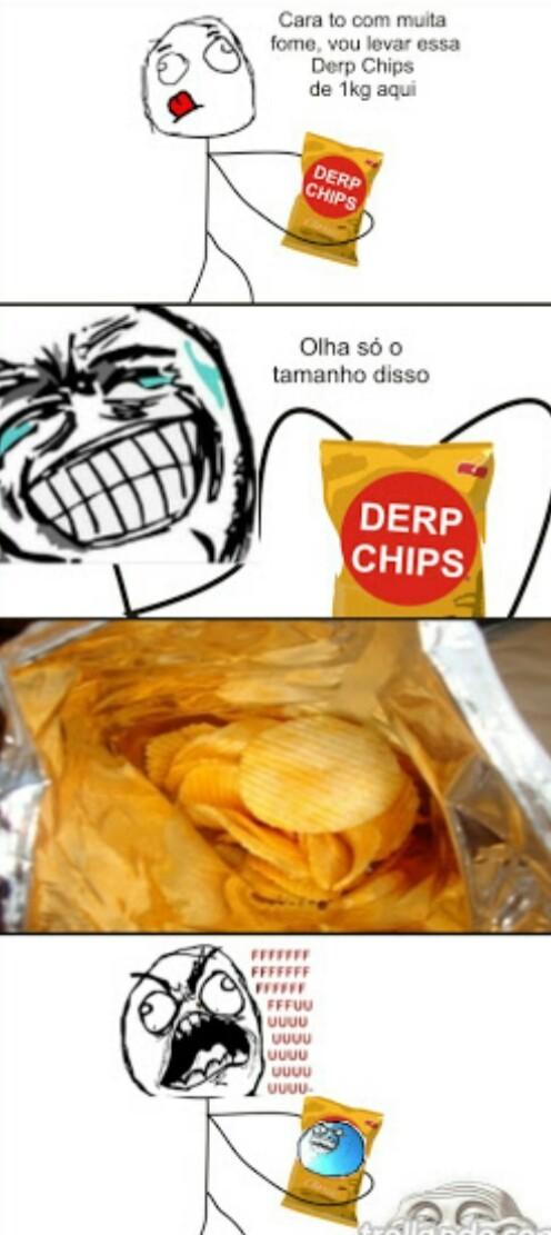 :/ sempre acontece c/ ruffles - meme