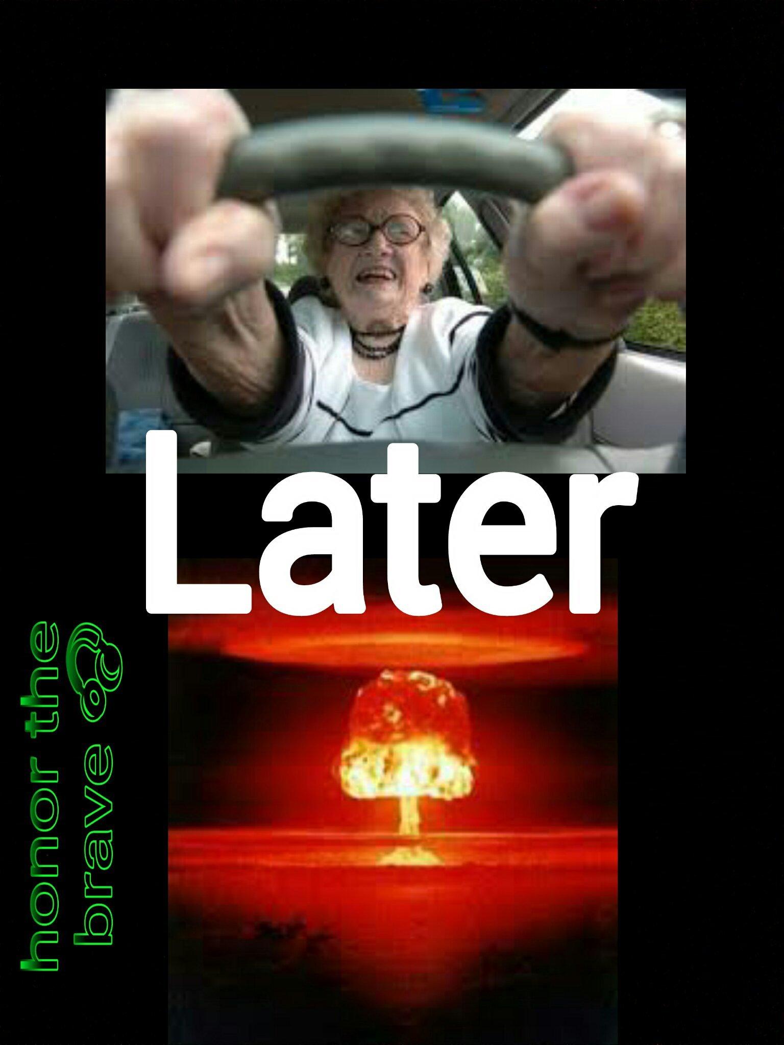 Anziani al volante pericolo costante - meme
