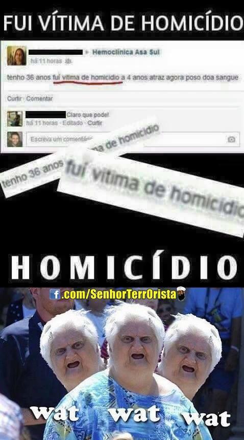 Homicidio?? Kkk - meme