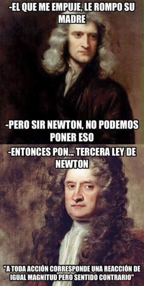Ese newton - meme