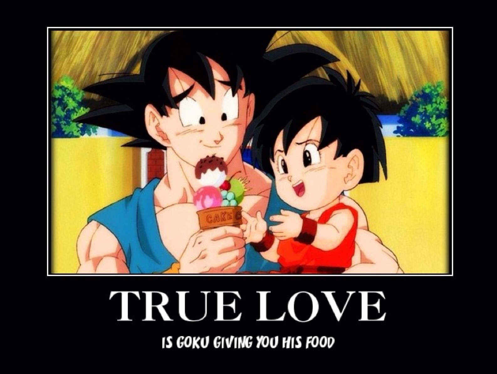 sharing food is the ultimate sign of true love - meme