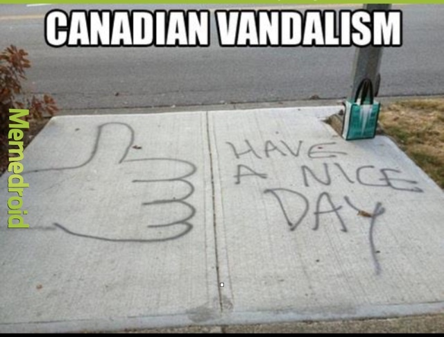 Canadians are so nice - meme