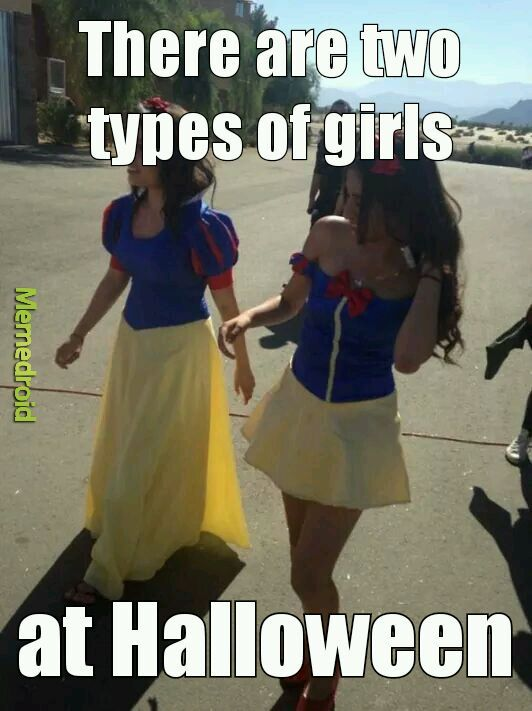 There are two types of girls - meme