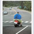 Lui il a pas besoin de frein ...