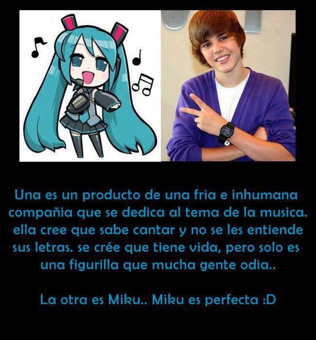Hatsune Miku (初音ミク) vs. Justin Bieber - meme