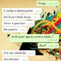 Nunca misture mãe, tarefas e ebola (celular do meu amigo shuashuashuashuashua)
