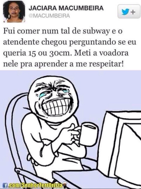 Subway de 15 ou 30 - meme