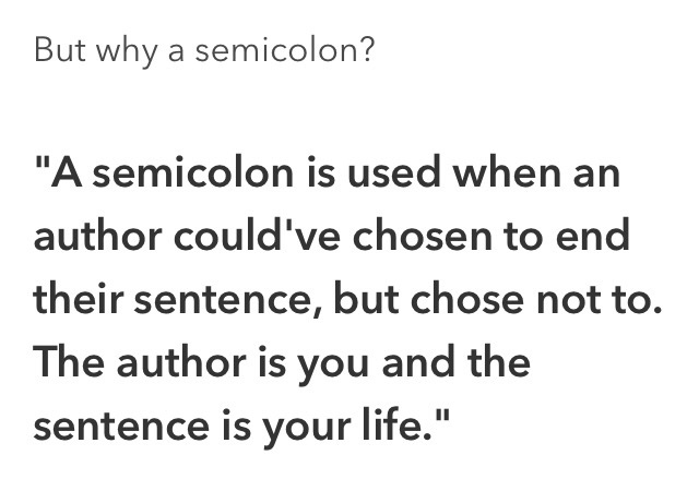 semicolon project - meme