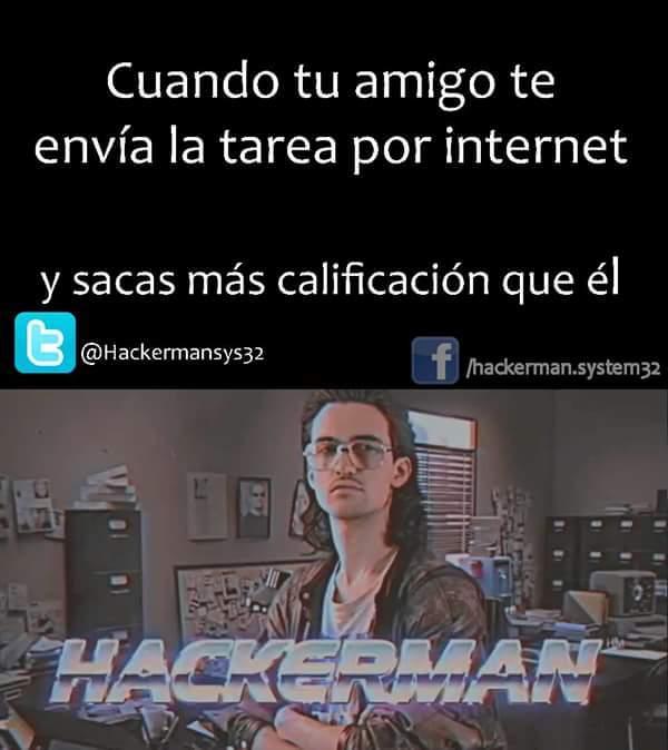 La pagina de Hackerman me mata :v - meme
