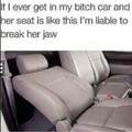"""it means a man has...""""been"""" in her car."""