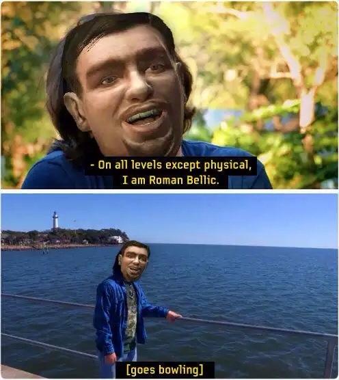 hey its roman lets go bowling - meme