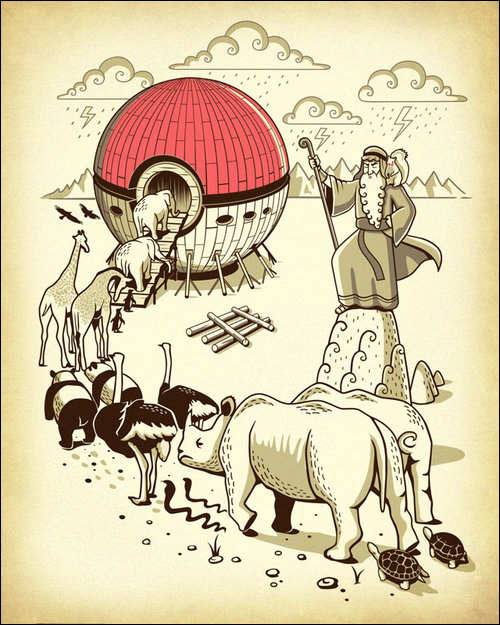 Arca de Noé dos pokémons - meme