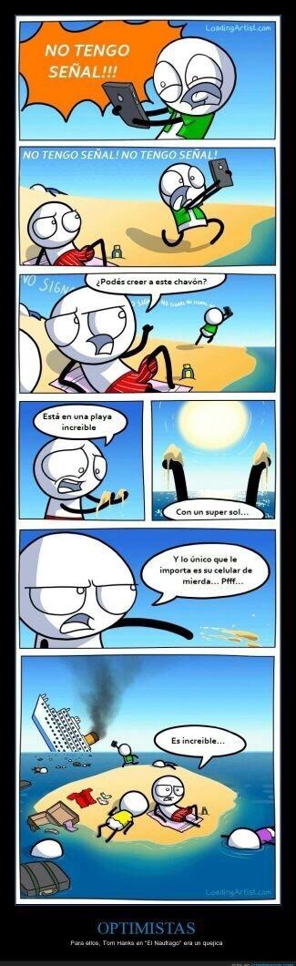 Optimistas - meme