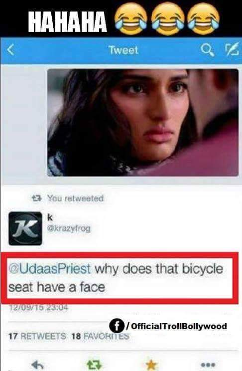 the seat of the bicycle - meme