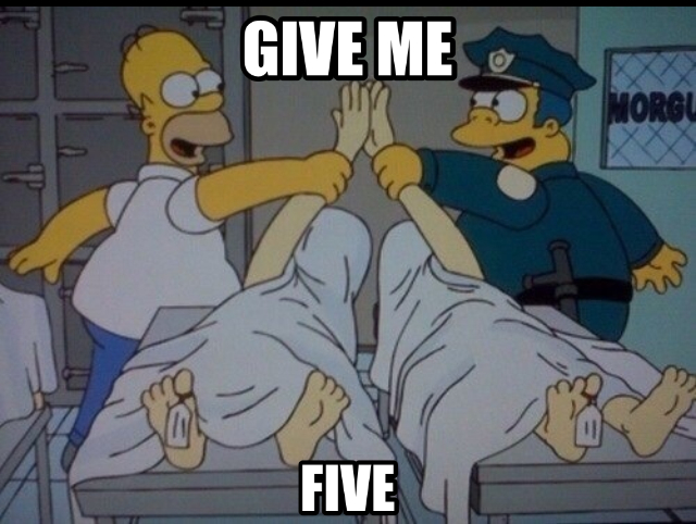 Give me five ! - meme