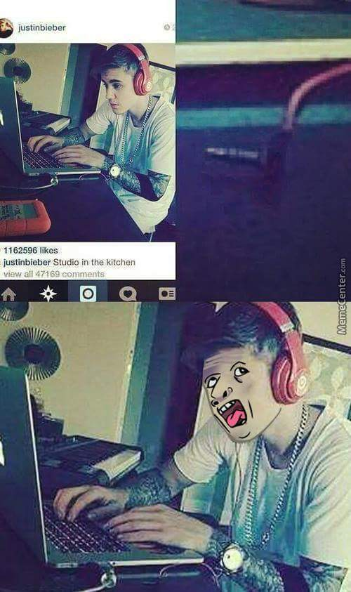 Justin da genius --' - meme