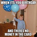 whats in the card......money ni**a dayum