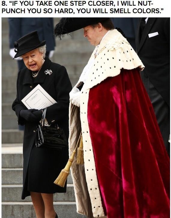 The Queen means it. - meme