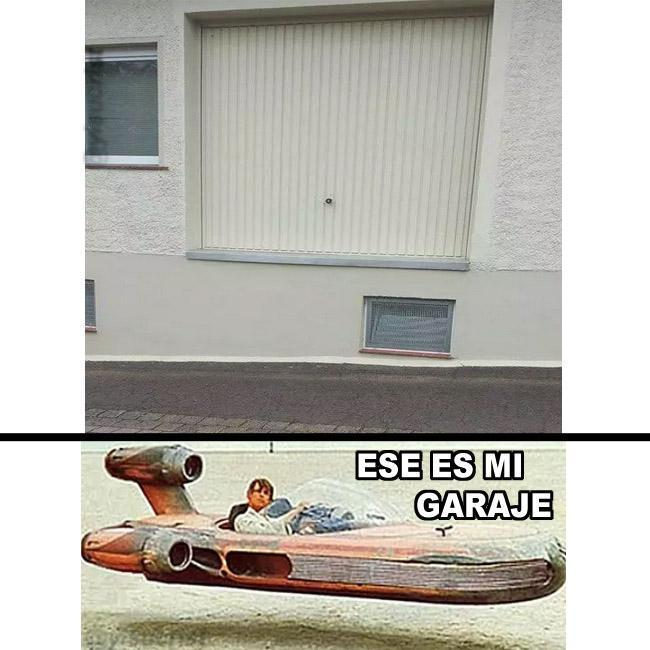 Ese es mi garaje - meme