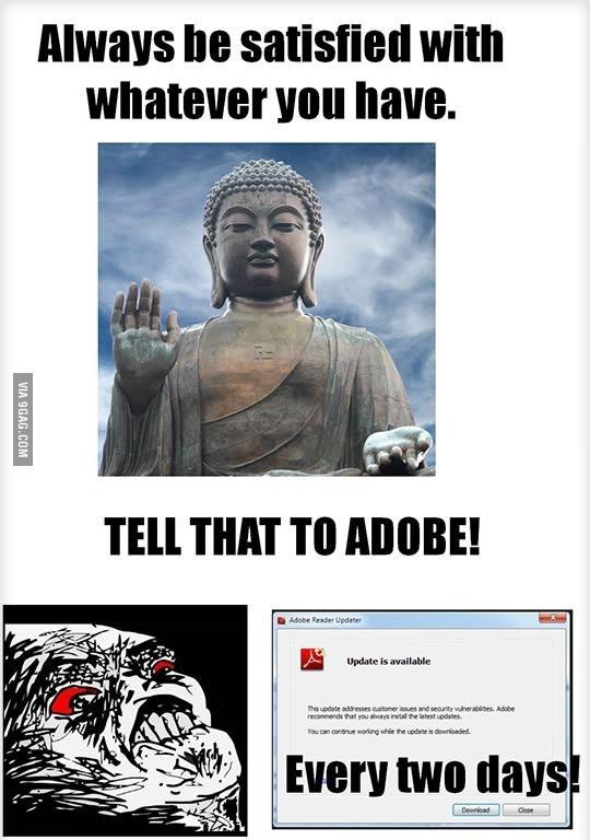 Adobe is still updating tittle sorry - meme