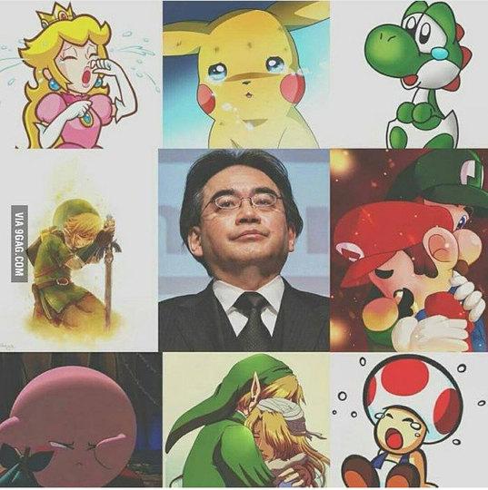 Morre aos 55 anos o presidente da Nintendo - meme