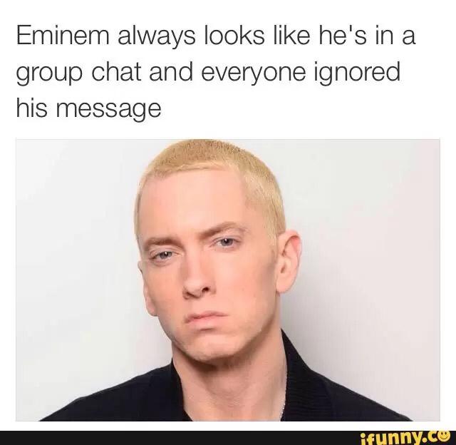Eminem likes M&Ms - meme