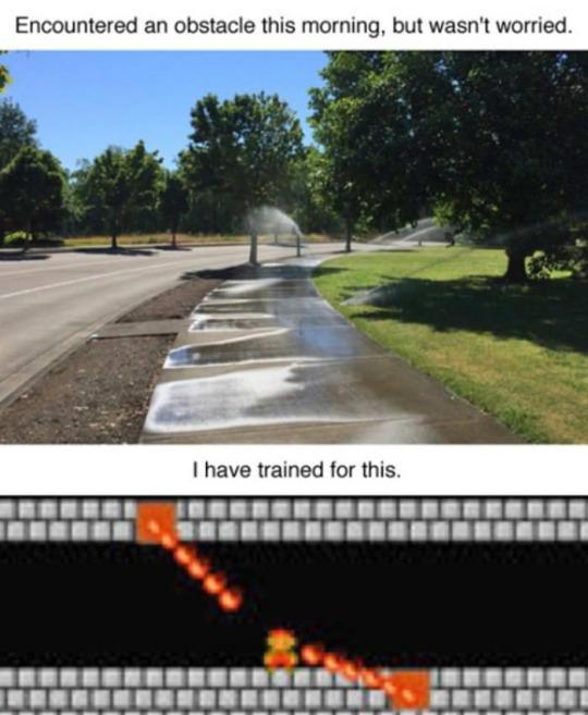 Toda una infancia de entrenamiento - meme
