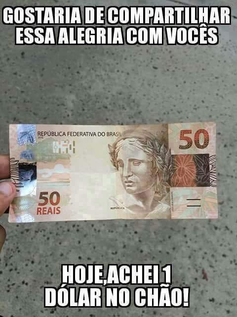 Oia já da pra comprar a Petrobras - meme
