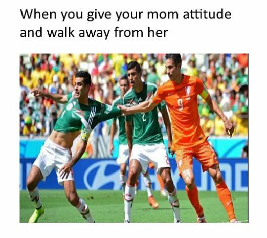 Never give her an attitude... - meme