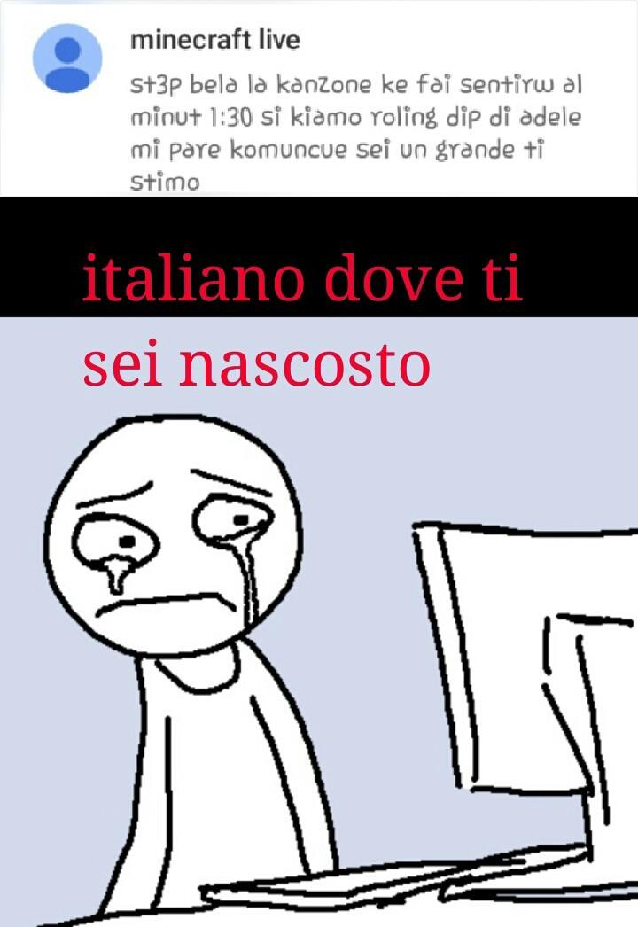 dove si è nascosto l'italiano rispondete nei commenti - meme