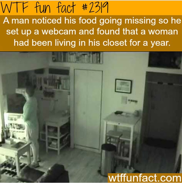 There is a monster in the closet..  o.o - meme