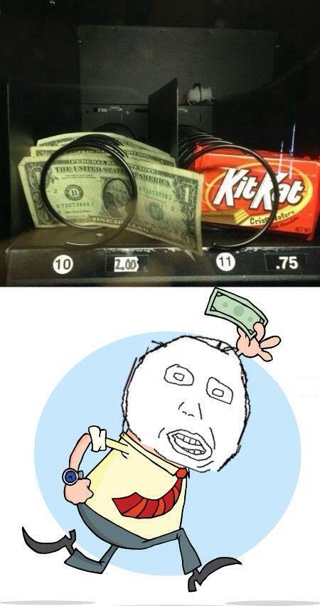 Por 2 dólares puedes comprar 1 dólar - meme
