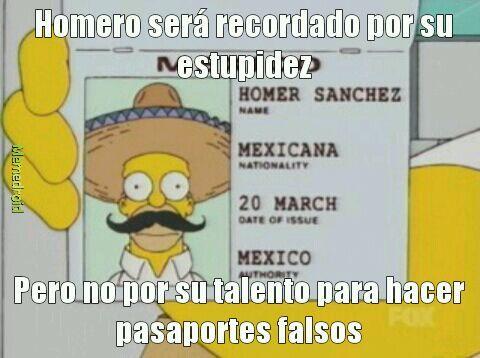 Homero gran hombre mejor Mexicano - meme