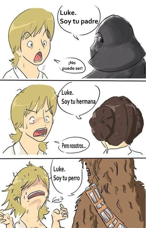 No es fácil ser Luke Skywalker - meme