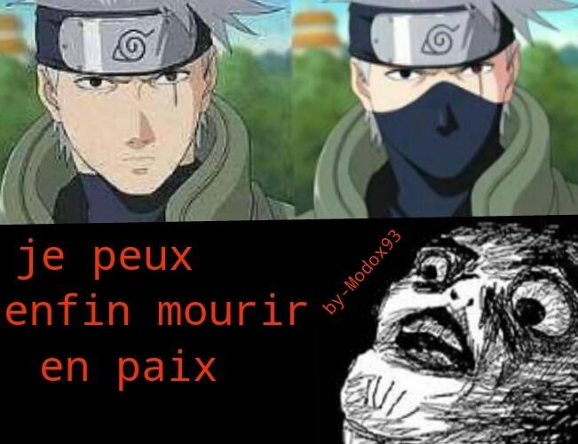 Le vrai visage de kakashi#naruto - meme
