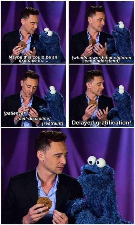 Loki broke Cookie Monster - meme