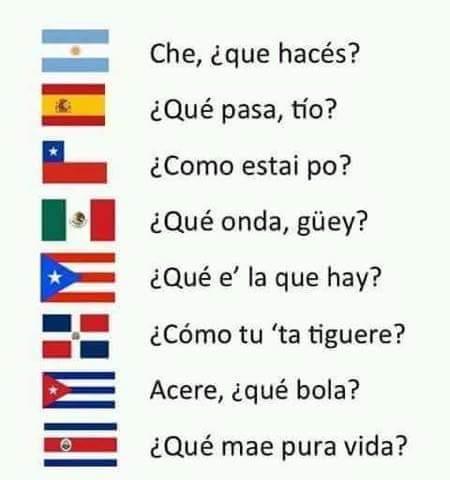Y en tu país como saludan? - meme