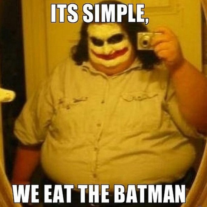 Joker letting himself go - meme