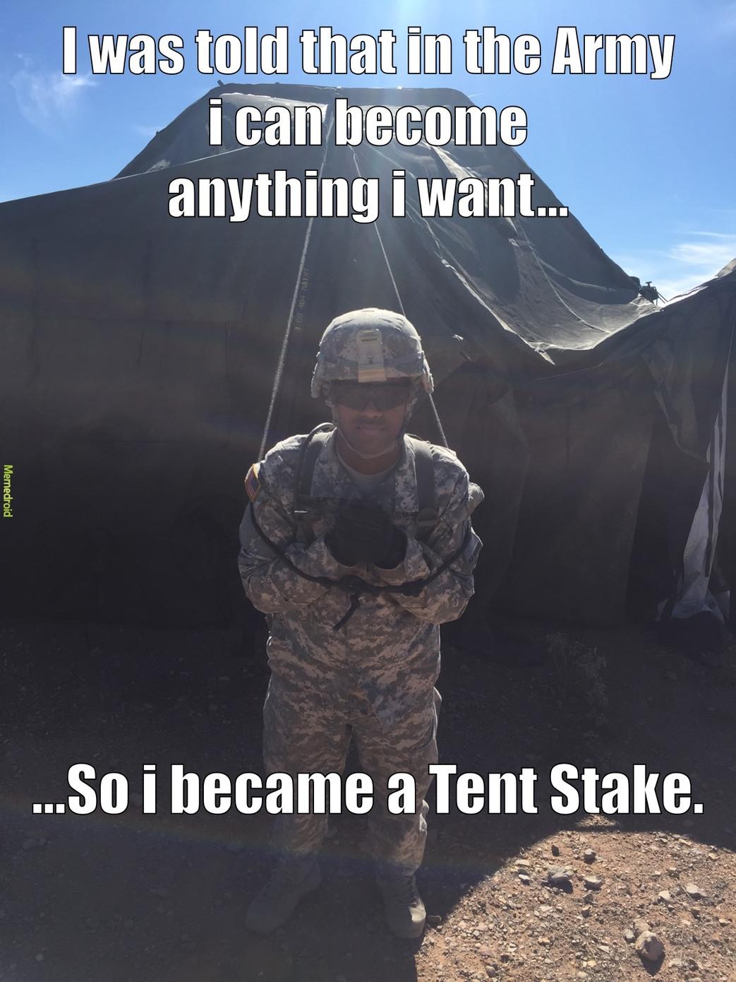 Tent Stake!!!! - meme