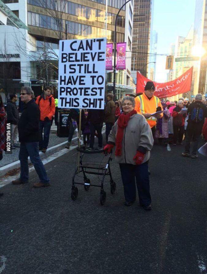 Grandma is tired of yo shit - meme