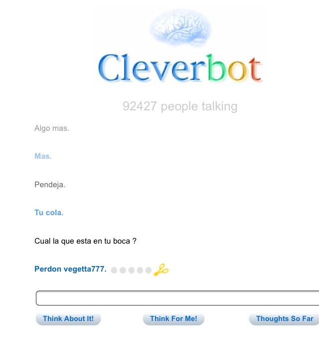 Mierda Parece Que CleverBot Es Rata - meme