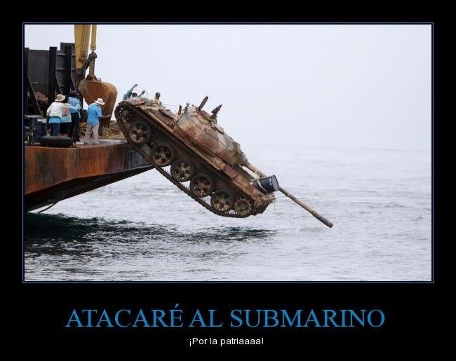Atacare el submarino - meme