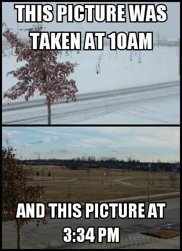 This is how fast the weather changes in Canada. Had this for awhile never posted it - meme