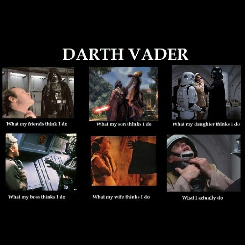 Darth Vader in a picture - meme